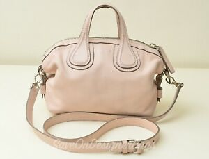 Givenchy-Micro-Nightingale-Waxy-Calf-Leather-Sling-Shoulder-Bag-Used-Authentic