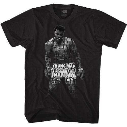 Muhammad Ali T-Shirt Standing Quote Black Tee