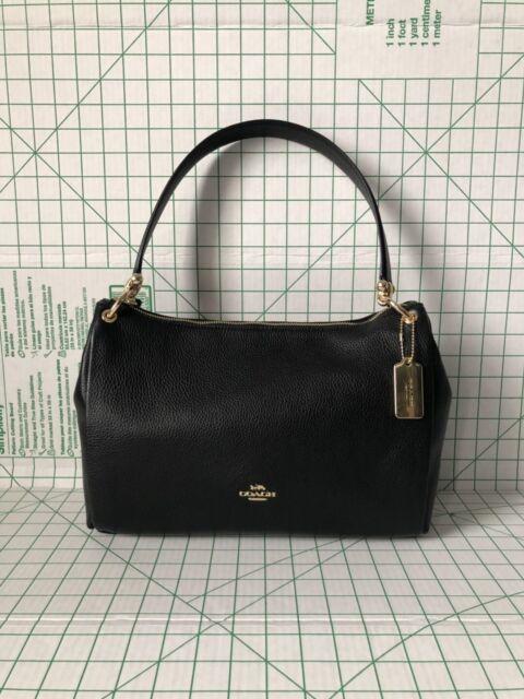 5dfc61282aff Coach Mia Shoulder Bag Black Leather Purse Handbag F28966 for sale ...