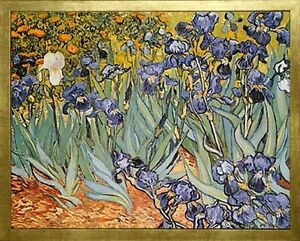 Irises by Vincent van Gogh. Framed Fine Art Reproduction Poster ...