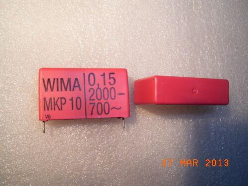 MKP10 MKP-10Film Capacitors Polypropylen 0.15uF 2000VDC 700VAC WIMA 2pcs