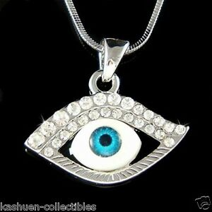 W swarovski crystal jewish judaism blue evil eye protection pendant image is loading w swarovski crystal jewish judaism blue evil eye aloadofball Image collections