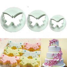 """3 Moules Decoupoirs Multi Forme """"Papillon"""" Patisserie Gateau Fondant Cake Sablé"""