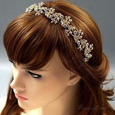 Bridal Jewelry Accessories Wedding Headpiece Crystal Headband Tiara 09918 Gold