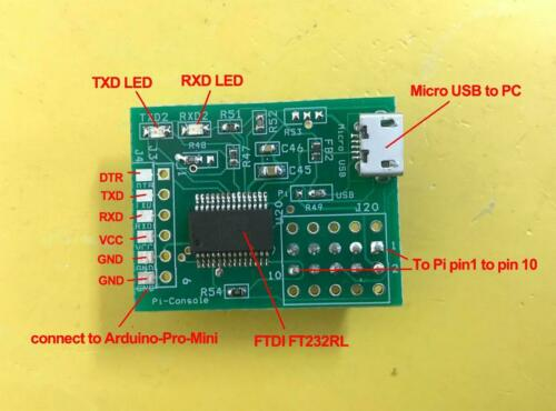 FTDI USB to serial TTL console adapter for Raspberry Pi Pi USB Console adapter