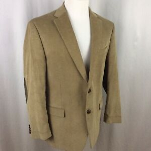 Details about Chaps Corduroy SportCoat Suit Jacket Blazer 44R Brown Elbow  Patches Two Button