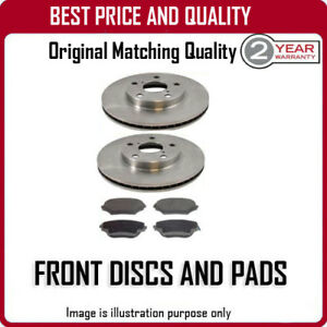 FRONT-BRAKE-DISCS-AND-PADS-FOR-FORD-ESCORT-1-8D-4-1986-12-1990