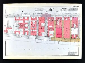 Details about 1955 Bromley New York City Map - Upper East Side Central Park  & Cornell Hospital