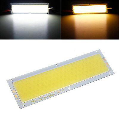 10W COB LED Plate Panal Lamp Light Bulb 12V 1000LM Warm Pure White DIY 120x36MM