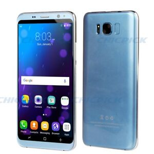 Telephone-S8-portable-debloque-3G-Android-6-0-5-5-034-Smartphone-IPS-8Go-ROM-Bleu