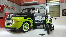 G LGB 1:24 Maßstab Maisto 32171G 1948 Ford F1 & Harley Davison Druckguss