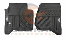 2014-2017 Silverado Genuine GM Front All Weather Floor Mats Black 84039114