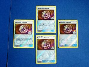 Playset Mysterious Treasure 113//131 Forbidden Light Pokemon Trainer x4 Cards