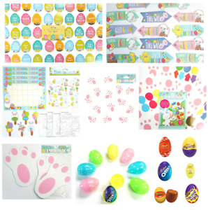 Details About Easter Egg Hunt Trail Arrows Bunny Feet Trail Set Chocolate Medals Rabbit
