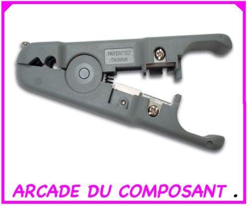 1 DENUDEUR UNIVERSEL DE CABLE COAXIAL ref 65-1202