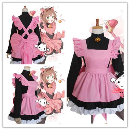 NEW!CARD CAPTOR SAKURA Black Cat Maid Servant Dress Outfit Cosplay {RDH}