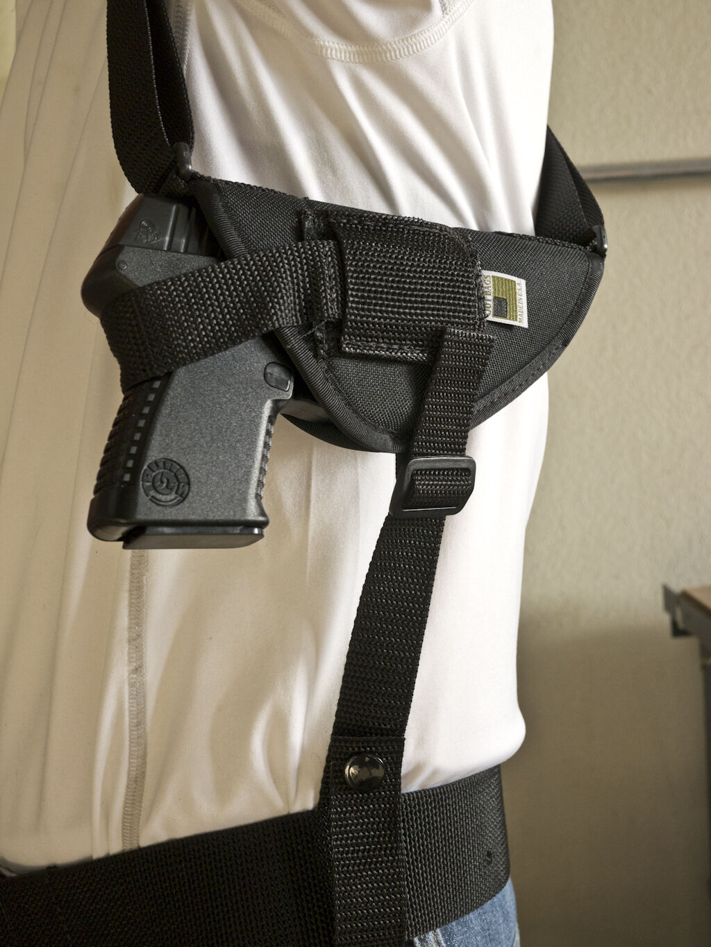Nylon Horizontal Shoulder Holster With Double Mag Pouch for Glock 42 G42 380 for sale online