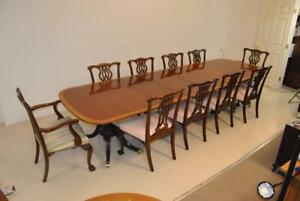 Fine Baker Furniture Dining Room Set Collectors Edition With 10