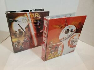 Star Wars The Force Awakens 1 Inch 3 Ring Binder BB8 Rea Finn Trooper Kylo Ren D