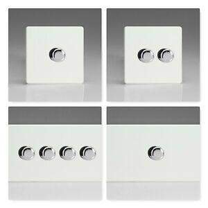 Varilight Screwless Premium Black Plastic Touch /& Remote IR LED Dimmer Switches