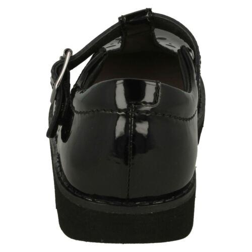 Elegante Charol Corona Niñas De Colegio Wish Zapatos Barra Negro T Clarks tx7HXwx