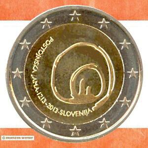 Monete Speciale Slovenia 2 Euro Moneta Da 2013 Postumia Moneta