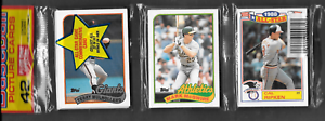 1989 TOPPS RAK PAK 41 CARDS & MARK McGwire & CAL RIPKEN JR. SHOWING