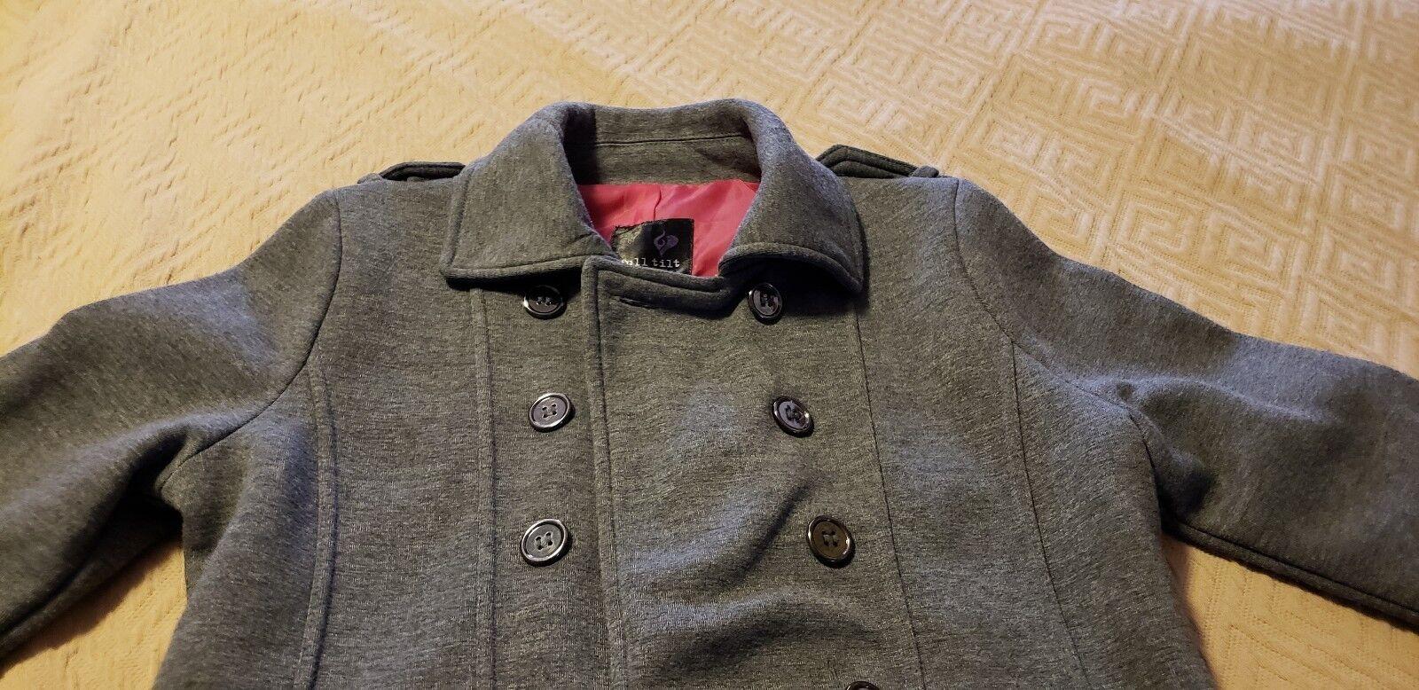 Nueva chaqueta gris con botones Full Tilt Chaqueta Peacoat NWT talla mediana 10-12