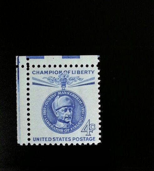 1960 4c Carl Gustaf Emil Mannerheim, Finnish Military S