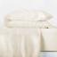Casaluna Ivory 100/% Linen Solid Sheet Set Orange NEW Queen /& King