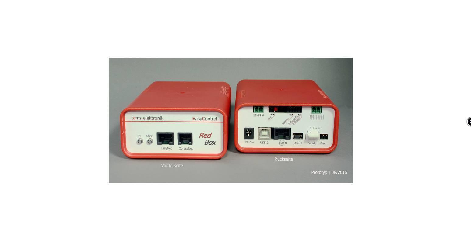 Tams il nuovo cervello del sistema EasyControl: Digital centrale rossobox