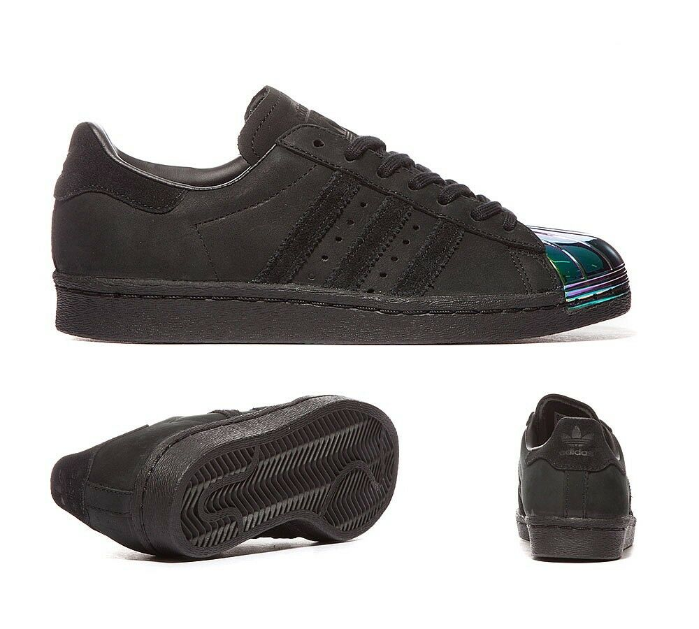 new concept f94b5 802a8 well-wreapped Adidas Superstar 80s Metal Toe Core Black Iridescent Toe  Sizes UK 4-