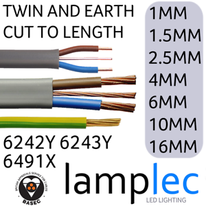 TWIN AND EARTHCABLE WIREALL SIZES6242Y 6243Y 6491XCUT TO LENGTH T/&E