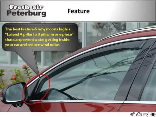 4pcs 2010-2018 MIT for Volkswagen Polo mk5 hatchback In-channel Wind Deflector