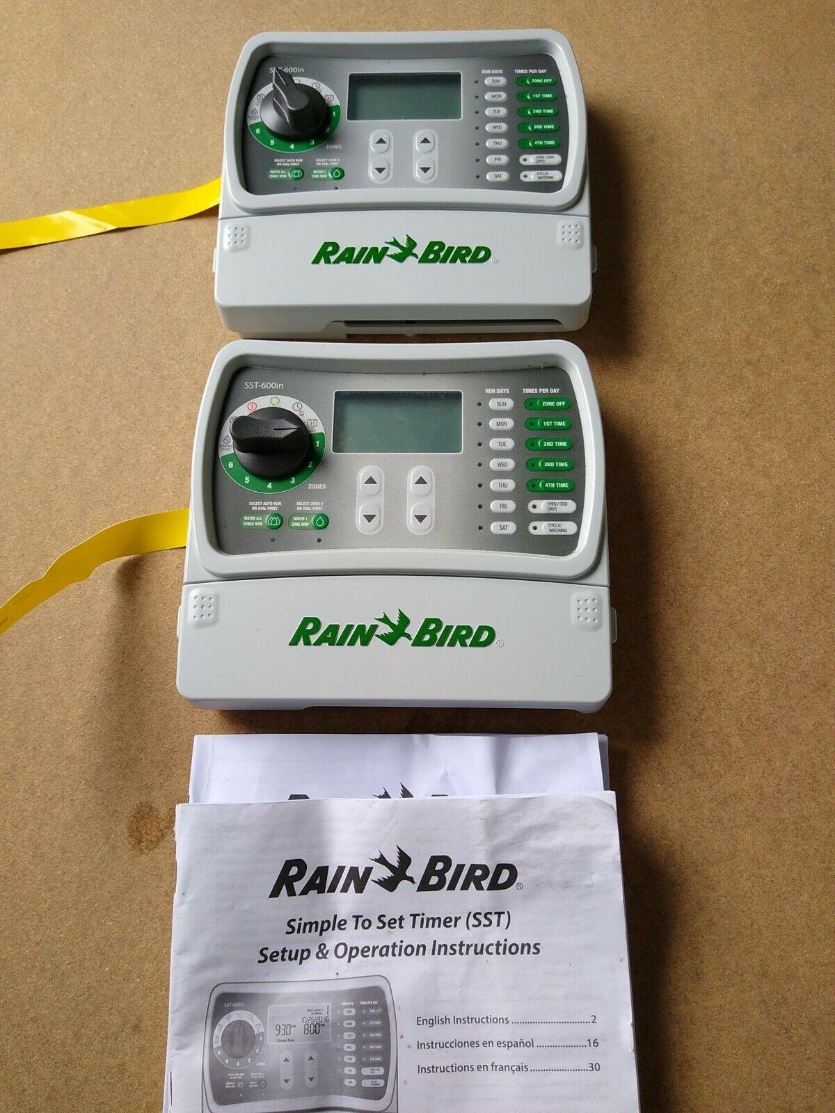 2 Rain Bird Simple Set Indoor Sprinkler Timer. NO POWER CORDS. Never Used. New.
