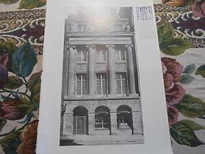 1909... Bauzeitung 24/maison Lodholz Fribourg/hermann Loque/silo-afficher Le Titre D'origine Peut êTre à Plusieurs Reprises Replié.