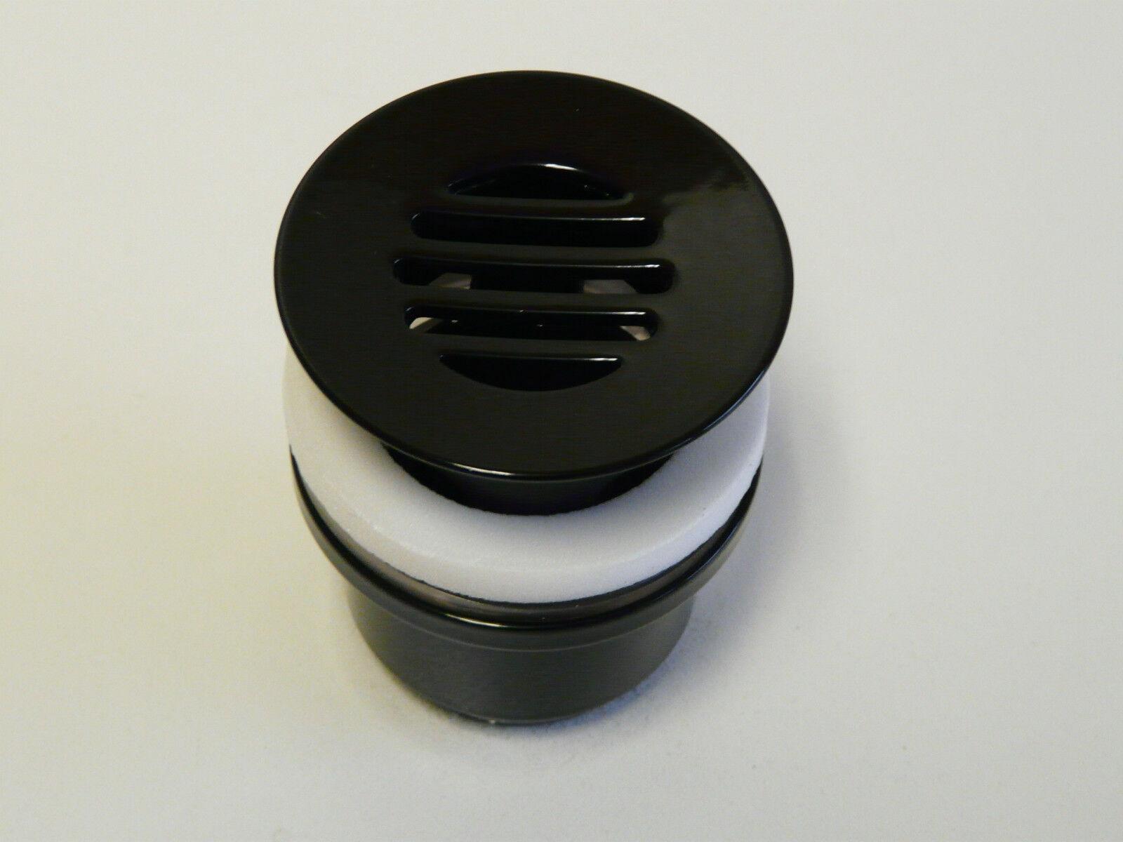 Ablaufgarnitur Schwarz (RAL 9005), Ablaufventil, Permanentablauf, mit Überlauf | Der Schatz des Kindes, unser Glück  | Kostengünstiger  | Sehr gute Farbe  | Ausgezeichnetes Handwerk