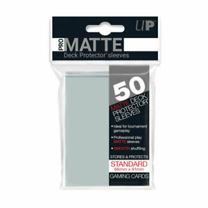 Ultra-Pro-Deck-Protector-Pro-Matte-Sleeves-CLEAR-for-Trading-Cards-50-in-Pack