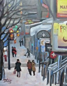 Crescent-Street-8x10-Oil-Darlene-Young-Canadian-Artist