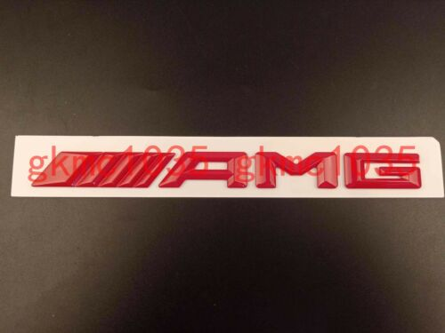 """GLOSS RED /""""//////AMG /"""" Letters Trunk Emblem Badge Sticker for Mercedes Benz AMG"""