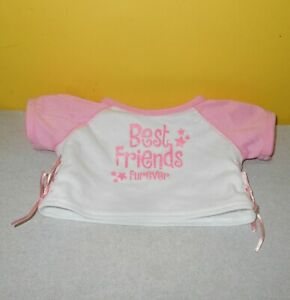 3107db14 Details about BABW Build A Bear Best Friends Furever Pink Shirt Outfit  Accessory