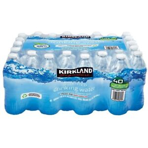 Details about Kirkland Natural Spring Drinking Water Still Bottled 500ml 40  Recyclable Bottles