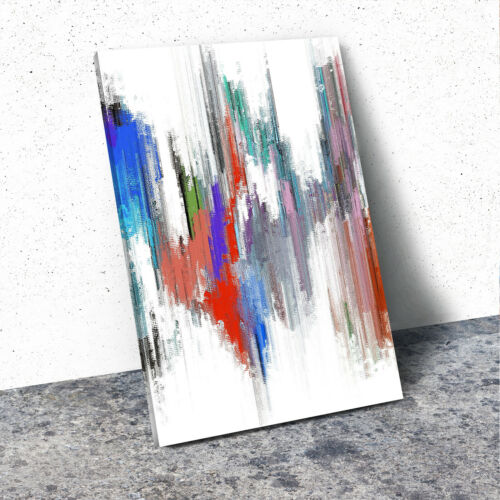 Green Red Blue White Portrait Abstract Canvas Wall Art Large Picture Prints