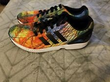 8689a04c5f6d3 adidas ZX Flux Men s Sz 9. 5 Multi Abstract Running Athletic Shoes - S78436  -