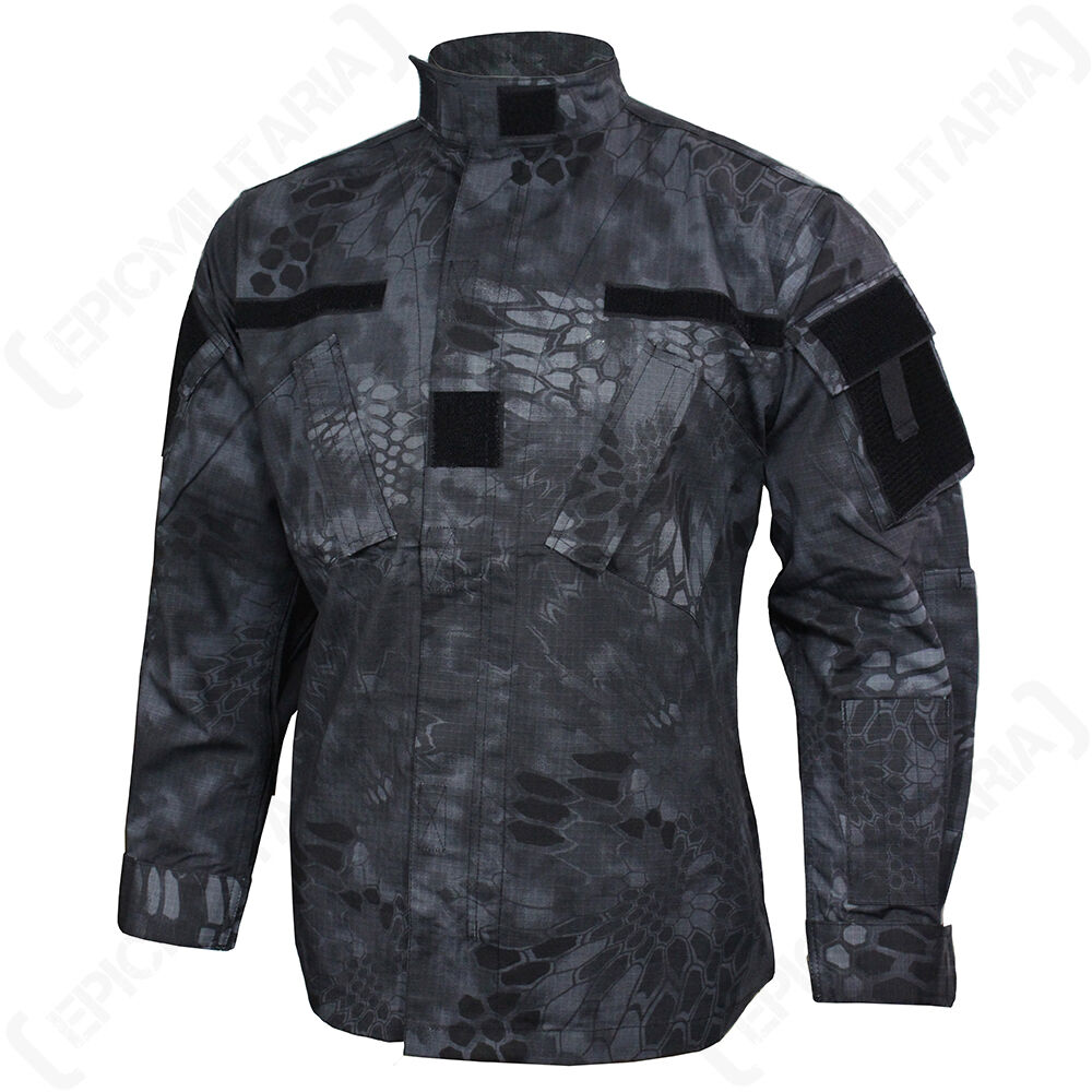 MANDRA nuit CAMOUFLAGE US ACU Champ Veste MILITARY MANTEAU - Toutes les sizes