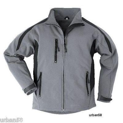 Arbeitskleidung & -schutz Selfless Softshelljacke Übergangsjacke Grau/schwarz Arbeit Freizeit Jacke S M 3xl Neu