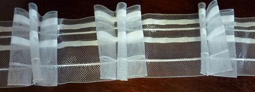 Gardinenband,Faltenband 60mm,L=50 m transparent 1 Rolle 2,5:1