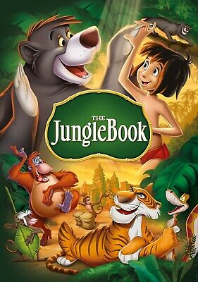 Disney Jungle Book Animated Movie Poster Iron On T-Shirt Transfer ...