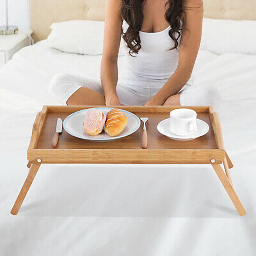 Mesa de bambú We Houseware BN1073 bandeja plegable desayuno en la cama