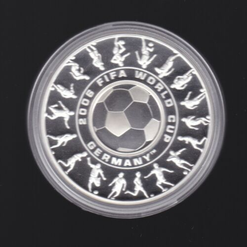 2006 FIFA World Cup Germany Holey Dollar and Dump 1oz Silver Proof Coin